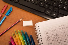 Colorfull mathematics Royalty Free Stock Images
