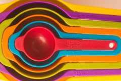 Colorfull Measuring Cup royalty free stock images