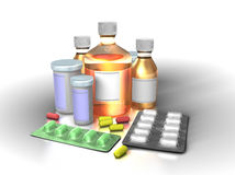 Colorfull medicine concept Stock Photos