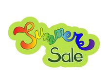Colorfull  hand sketched Summer sale Stock Photos