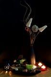 Colorfull Mischung von Potpourri und von Kerzen Stockbild