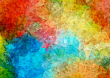 Colorfull mosaic background of small square shapes. Stock Images