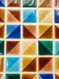 Colorfull mosaic for decor material stock image
