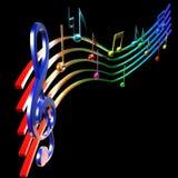 Colorfull musikalische Anmerkungen lizenzfreie abbildung