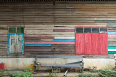 Colorfull old window. Made by wood Royalty Free Stock Photo