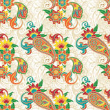 Colorfull paisley pattern Royalty Free Stock Photography
