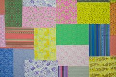 Colorfull Paper Motif. With difference color and motif for background porpouse stock photography