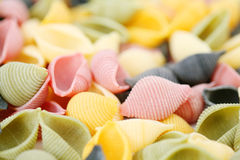 Colorfull pasta Stock Image