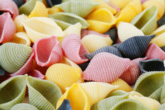Colorfull pasta Royalty Free Stock Image