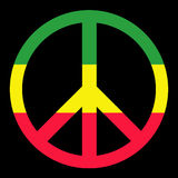 Colorfull Peace Symbol. Isolated in black Royalty Free Stock Photography