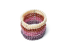 Colorfull pearls bracelet. With white background Stock Images