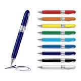 Colorfull pens. Illustration of set colorfull pens Stock Image