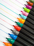Colorfull pens line Royalty Free Stock Photo