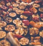 Colorfull, piec na grillu warzywa patrzeje yummy Zdjęcia Stock