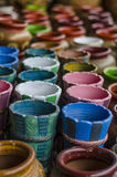 Colorfull potery Stock Images