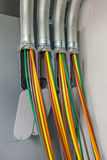 Colorfull Power Cables Royalty Free Stock Photo