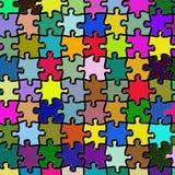 Colorfull Puzzlespiel stock abbildung