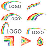 Colorfull Rainbow 3D Look Logo Template Royalty Free Stock Photography