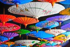 Colorfull-Regenschirme Lizenzfreies Stockfoto