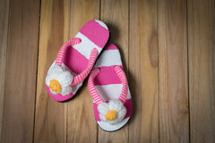 Colorfull sandal with flower Royalty Free Stock Photos