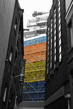 Colorfull scaffold Stock Photos