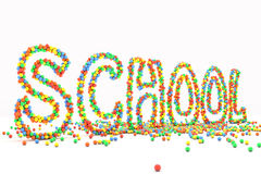 Colorfull Schule Lizenzfreies Stockfoto