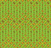 Colorfull seamless floral pattern. Seamless floral pattern with decorative flowers at green background Stock Image