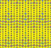 Colorfull seamless floral pattern. Seamless floral pattern with decorative flowers at yellow background Royalty Free Stock Photo