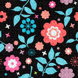Colorfull seamless floral texture Royalty Free Stock Photography