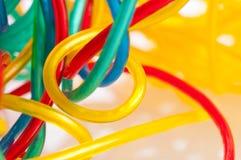 Colorfull Seilzüge Stockfotos