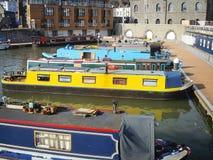 Colorfull smala fartyg Royaltyfri Foto