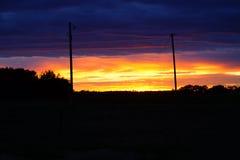Colorfull solnedgång Fotografering för Bildbyråer