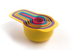 Colorfull som mäter koppen Royaltyfri Fotografi