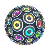 Colorfull speakers in form of  sphere isolated Stock Photos