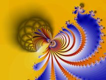 Colorfull spiral fractal Stock Photography