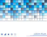 Colorfull square background. Vector illustration Royalty Free Stock Photography