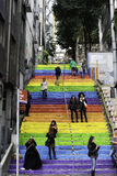 Colorfull steps in Istambul Royalty Free Stock Photo