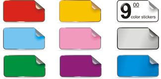 Colorfull stickers Royalty Free Stock Image