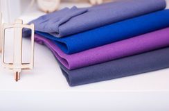 Colorfull sweaterin the clothes shop Royalty Free Stock Image