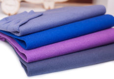 Colorfull sweaterin the clothes shop Royalty Free Stock Photo