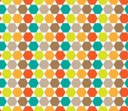 Colorfull sześciokąta wzór Bezszwowy geometryczny wektorowy tło Ilustracja Wektor