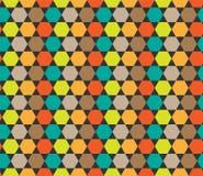 Colorfull sześciokąta wzór Bezszwowy geometryczny wektorowy tło Ilustracji