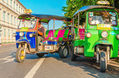 Colorfull taxi - Bangkok tourist attractions Stock Photos