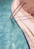 Colorfull tegelplattor på poolside Royaltyfria Bilder