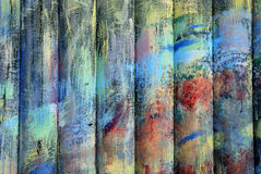 Colorfull timbers. Painted of different paints timbers Royalty Free Stock Photos