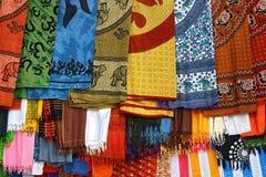 colorfull tkanin hindus typowo zdjęcia royalty free