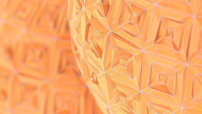 Colorfull Triangulation Background, Deformed Surface, 3D Renderi. Ng Stock Image