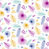 Colorfull tropical leaves seamless pattern Royalty Free Stock Photo