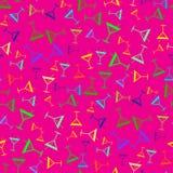 Colorfull tropicale del coctail sul modello senza cuciture rosa Immagine Stock