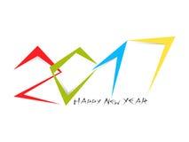 Colorfull-Typografie von 2017 mit Text des neuen Jahres Stockbild